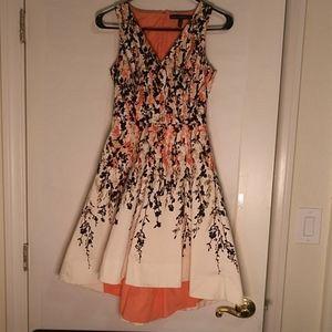 White House Black Market Floral Print Dress Sz 00